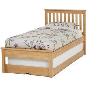 Elegant Furniture Heather Wooden Single Bed With Guest Bed In Honey Oak Heat300hobgb.sr