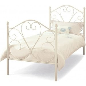 Elegant Furniture Isabelle Metal Single Bed In White Gloss Isab300whbed.sr