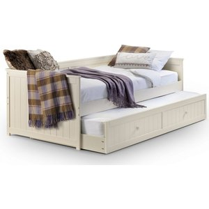 Elegant Furniture Jessica Wooden Daybed And Guest Bed In Stone White Jes001.jb