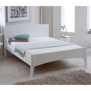 Elegant Furniture Lauren Wooden Double Bed In White Habflaur46.vt
