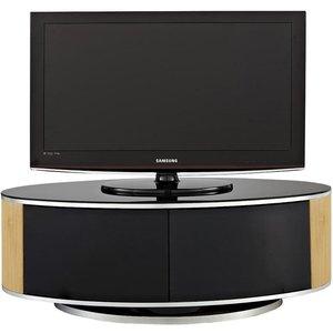 Elegant Furniture Luna Wooden Tv Stand In Black High Gloss And Oak With Push Release Doors Luna Oak.mda