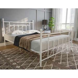 Elegant Furniture Manila Metal Double Bed In White 3236198uk.dr