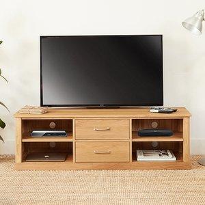 Elegant Furniture Mobel Wooden Mounted Widescreen Tv Stand In Oak Cor09e.bmh