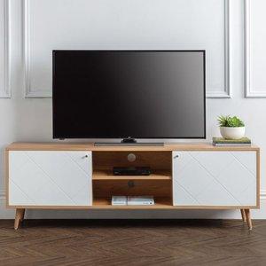 Elegant Furniture Moritz Wooden 2 Doors Tv Stand In Oak And White Mor002.jb