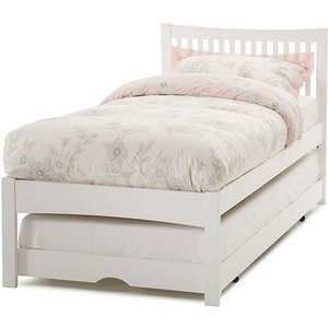 Elegant Furniture Mya Wooden Single Bed With Guest Bed In Opal White Mya300owbgb.sr