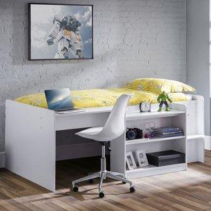 Elegant Furniture Neptune Wooden Midsleeper Childrens Bed In Matt White Nep001.jb