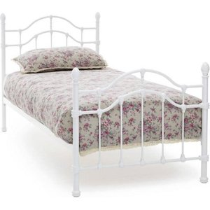 Elegant Furniture Paris Metal Single Bed In White Gloss Pari300whbed.sr