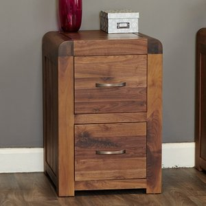 Elegant Furniture Shiro Wooden 2 Drawers Office Filing Cabinet In Walnut Cdr07a.bmh