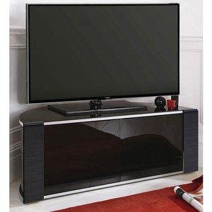 Elegant Furniture Sirius Small Corner Tv Stand In Black High Gloss With Push Release Doors Sirius 850 Blk.mda