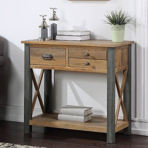 Elegant Furniture Urban Elegance Wooden Small Console Table In Reclaimed Wood Vpr02b.bmh