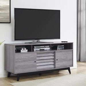 Elegant Furniture Vaughn Wooden 2 Doors Tv Stand In Grey Oak 1823196comuk.dr