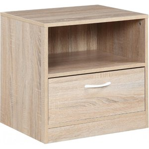Elegant Furniture Yewtree Wooden Bedside Cabinet In Oak With 1 Drawer Yewnig.hl