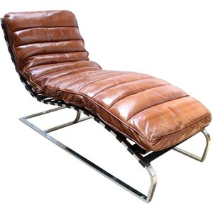 Designersofas4u Bilbao Daybed Vintage Tan Distressed Leather Chaise Lounge Uk27158075 Chairs