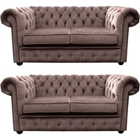 Designersofas4u Chesterfield 2 Seater + 2 Seater Settee Harmony Charcoal… Uk7225443