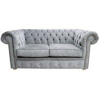 Designersofas4u Chesterfield 2 Seater Settee Vita Silver Fabric Sofa Offer Uk37580570