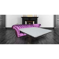 Designersofas4u Chesterfield Balmoral Purple 3 Seater Sofabed Settee Boutique… Uk5610971