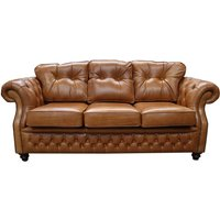 Designersofas4u Chesterfield Era 3 Seater Sofa Old English Tan Leather Uk30345253