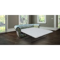 Designersofas4u Chesterfield London 3 Seater Antique Green Leather Sofabed… Uk5611985