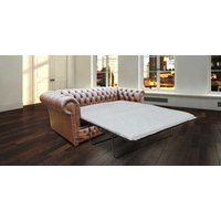 Designersofas4u Chesterfield Winchester 3 Seater Sofabed Settee Antique Brown Uk5148847