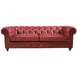 Designersofas4u Earle Grande Chesterfield 3 Seater Oxblood Red Real Leather Sofa Uk37491566