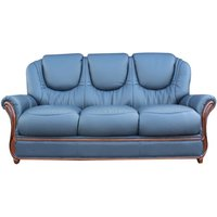 Designersofas4u Juliet Genuine Italian Leather 3 Seater Sofa Settee Navy Blue Uk3502083