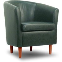 Designersofas4u Leather Bucket Tub Chair Conifer Green Uk1584 Chairs
