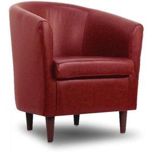 Designersofas4u Leather Bucket Tub Chair Paprika Uk1590 Chairs