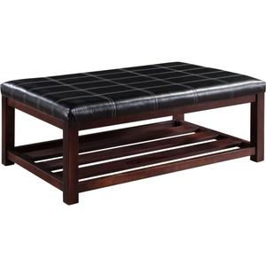 Designersofas4u Leather Top Coffee Table Uk42635576 Furniture