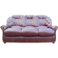 Designersofas4u Mars Range Genuine Italian Leather 3 Seater Sofa Settee Burgundy Uk8812986