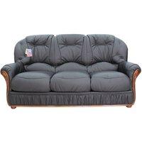 Designersofas4u Mars Range Genuine Italian Leather 3 Seater Sofa Settee Black Uk8813000