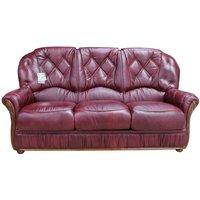 Designersofas4u Rome Genuine Italian Leather 3 Seater Sofa Settee Burgundy Uk3635688