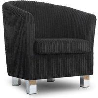 Designersofas4u Small Fabric Sofa Tub Chair Jumbo Black Chrome Legs Uk1416 Chairs