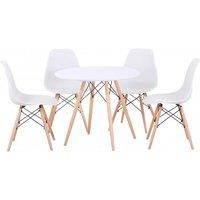 Designersofas4u Tegan Dining Set In White/natural/white Uk6300578 Tables