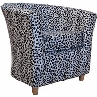 Designersofas4u Tub Chair Fabric Bucket Animal Print Chair Dalmation Uk1010 Chairs