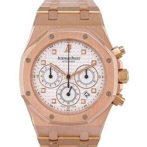 Audemars Piguet Royal Oak Chronograph 26022or, Baton, 2009, Very Good, Case Material Rose  Mens Watches