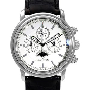 Blancpain Leman Flyback Chronograph Perpetual Calendar 2685f-1127-53b, Baton, 2009, Very G Mens Watches