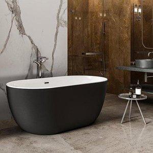 Charlotte Edwards Mayfair Gloss Black 1500mm Contemporary Freestanding Bath