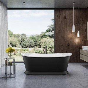 Charlotte Edwards Rosemary 1700mm Matt Black Freestanding Bath