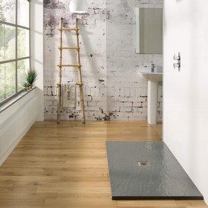 Mx Minerals Rectangular Shower Tray Ash Grey