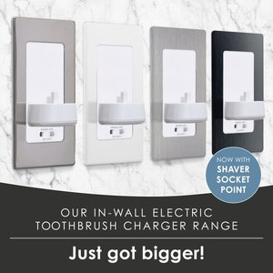 Proofvision In Wall Electric Toothbrush Charger With Shaver Socket