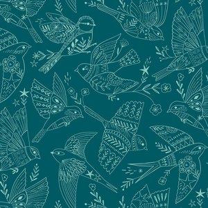 Dashwood Studios Aviary - Birds Blue