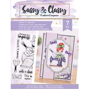Crafters Companion Sassy & Classy - Dress To Impress - Photopolymer Stamp - A6