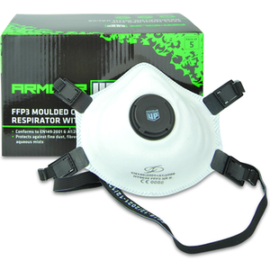 Armour Up Moulded Cup Respirator With Valve 5 Masks