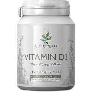 Cytoplan Vegan Vitamin D3 62.5μg 60 Tablets