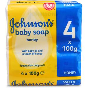 Johnsons Johnson's Baby Honey Soap 4x100g