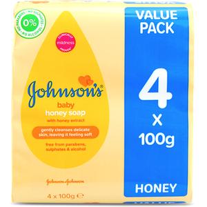 Johnsons Johnson's Baby Soap With Honey 4x100g