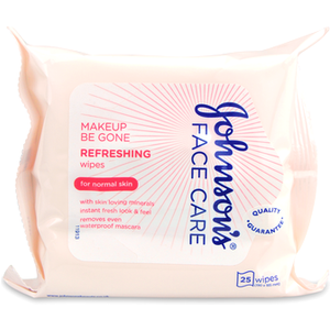 Johnsons Johnson's Face Care Makeup Be Gone Refreshing 25 Wipes