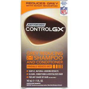Just For Men Control Gx Grey Reducing 2 In 1 Shampoo And Conditioner 147ml
