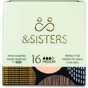&sisters Naked Tampons Medium 16 Pack