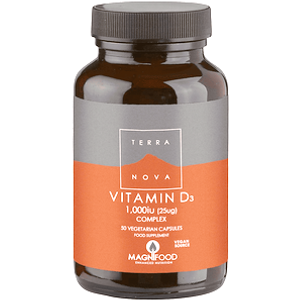 Terranova Vitamin D3 1000 Iu Complex 50 Capsules